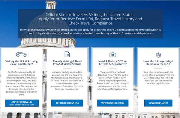 i 94 form travel history  I-12 Formular (Arrival/Departure Record)