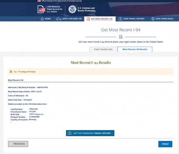 i 94 form online download  I-7 Formular (Arrival/Departure Record)